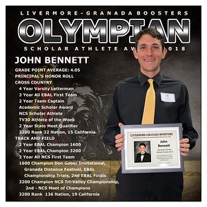 Bennett John Olympian Award 2018