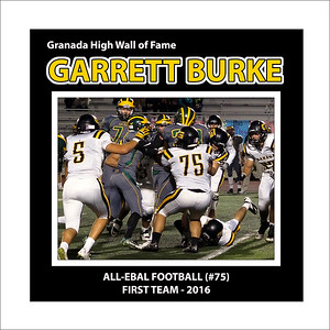 Burke Garrett GHS FB  All EBAL 1st Team 2016