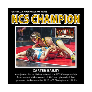 Bailey Carter GHS NCS Champion 2020