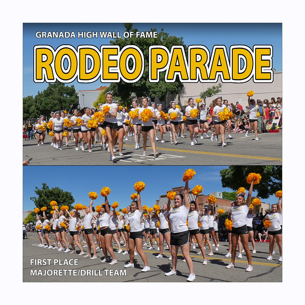 Cheerleaders GHS 2019 Rodeo Parade 1st Place