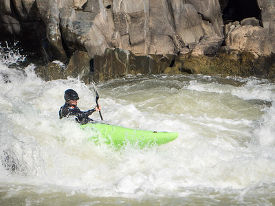 KAYAK RACER, GREAT FALLS VIRGINIA
