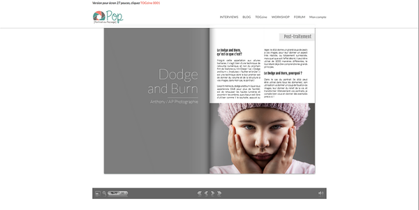"""Article sur le Dodge and Burn pour le mensuel """"POP Magazine"""""""