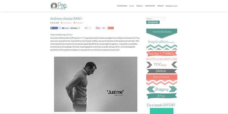 """Interview pour le site spécialisé """"Portrait ou Paysage"""""""