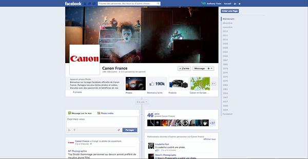 """Sélection de l'image """"Toy Story"""" pour la couverture Facebook de Canon France"""
