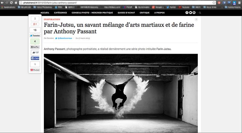 """Mise en avant de la série """"Farin-Jutsu"""" sur le site spécialisé Phototrend.fr"""