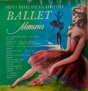 Ballet Memories by Ronnie Munro and His Orchestra,  Album Cover Illustration by Irv Docktor