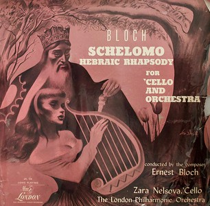 Schelomo by Bloch for Cello and Orchestra,  Record Cover Illustration by Irv Docktor