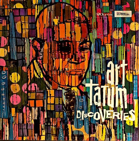 Record album, Art Tatum, Discoveries (20th Century Fox FOX 3029/SFX 3029, 1960). Illustration by Irv Docktor.