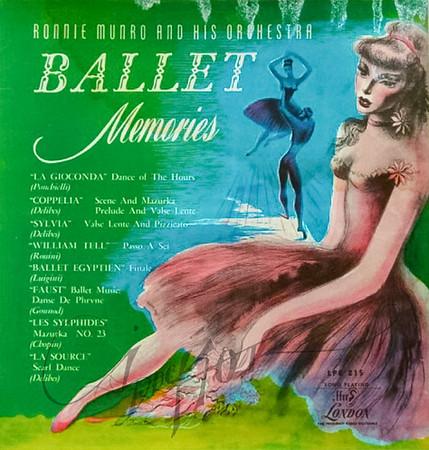 Ballet Memories, album cover art by Irv Docktor