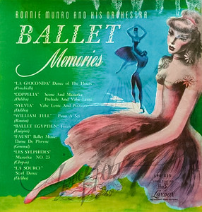 Ballet Memories,  Ronnie Munro and his Orchestra,   album cover art by Irv Docktor