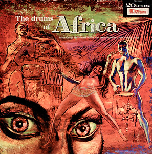 The Drums of Africa:  Prince Onago & Princess Muana & Native Drummers of the Belgian Congo,  Cover Illustration by Irv Docktor