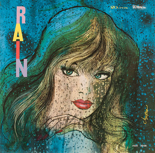 Record album, The Dew Drops, Rain (20th Century Fox FOX 3028, 1960). Illustration by Irv Docktor