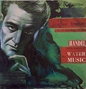The Water Music,  Handel, Huffner Symphony,  No. 35 in D Major (K. 385) , Album Cover Illustration by Irv Docktor