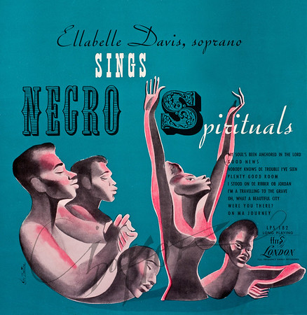 Record album, Ellabelle Davis, Ellabelle Davis Sings Negro Spirituals (Camden LPS 182, 1950). Illustration by Irv Docktor