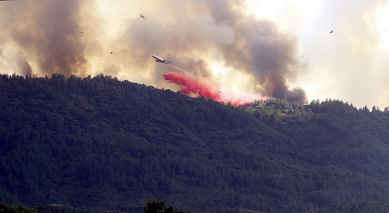 . Photo by Bob Minenna for the Record-Bee River fire, Saturday July 28