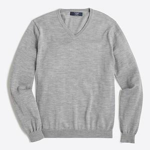 2017-10-06_J Crew_Factory_Heather_Grey_Merino_wool_V-neck_sweater_30