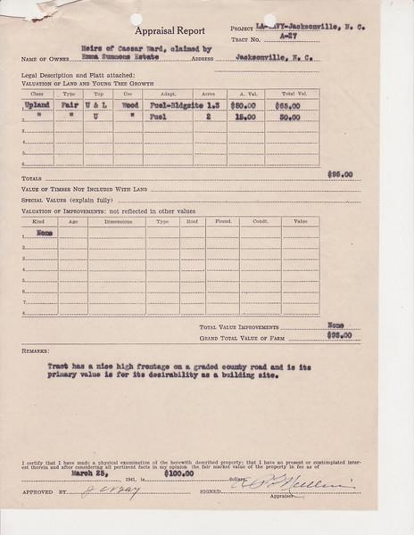A-27 Heirs of C  Ward, Emma Summ0011