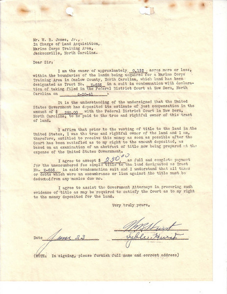 E656 Acceptance Letter
