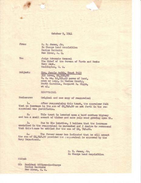 F13 Reappraisal Letter