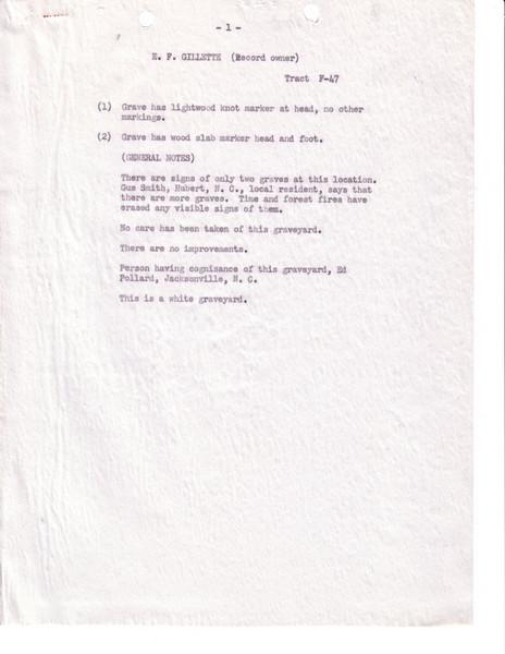 F47 E  F  Gillette Cem Page 1