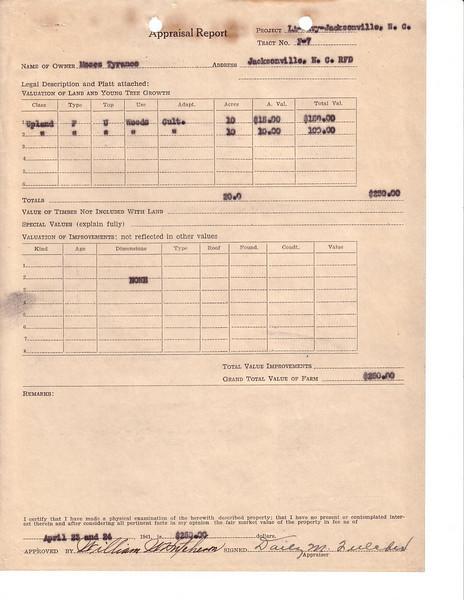 F7 Moses Tyrance Appraisal