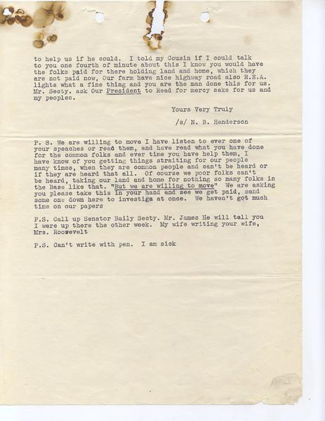 Barclay Henderson Presidential Letter Part 2