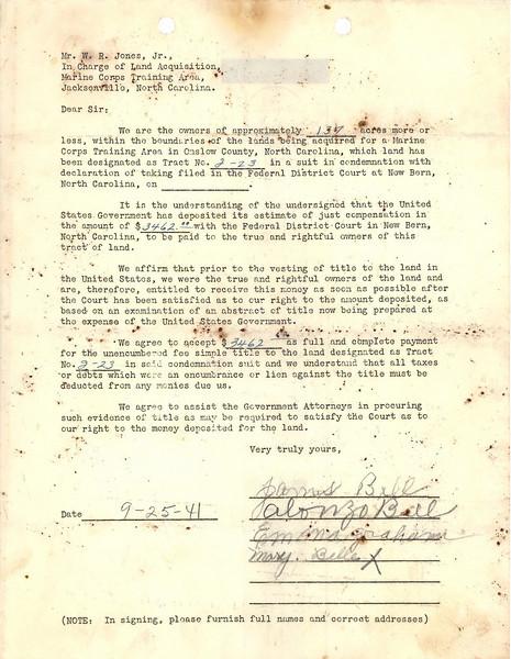 I-23 acceptance letter