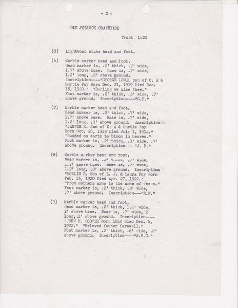 L20 Old Pollock Grave yard list0001