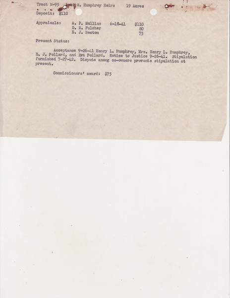 M-95 Lott W  Humphrey Heirs