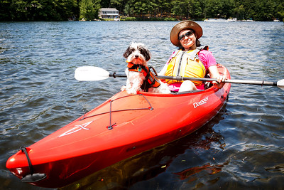 Kayaking Little Ossipee Pond (07/08/2012) Cal accompanies Kelly as navigator while kayaking Little Ossipee Pond.