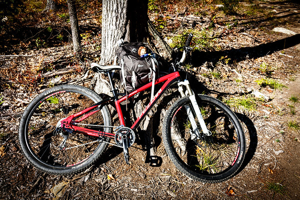 Mountain Biking Peabody Town Forest (September 2013)