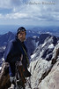 Mountaineering, Climber taking a break while climbing the Grand Teton, Grand Teton National Park, Wyoming, USA, North America
