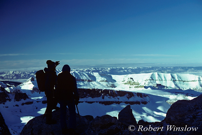 Winter Mountaineering, Looking toward the Southwest, Grand Teton National Park, Wyoming, USA, North America
