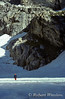 Mountaineering,Climber crossing the Teton Glacier, Grand Teton National Park, Wyoming, USA, North America