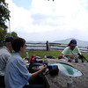 Sitting down to lunch on Hemphill Bald at the memorial table for the Alexanders