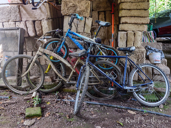 Stack of Old Bicycles
