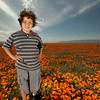 We were out near the California Poppy Reserve in Lancaster, CA.  We went specifically to get portrait like pictures with all the poppies.