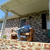 Uncle Larry out on the front porch.