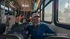 On the bus in Breckenridge
