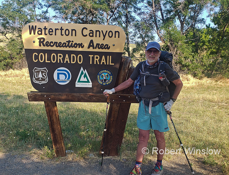 This is where the trail begins outside of Denver.