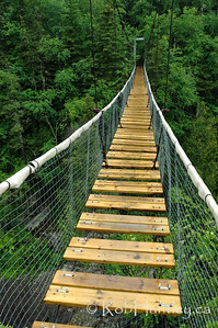 White River Suspension Bridge, Pukaskwa National Park, Marathon, Ontario.