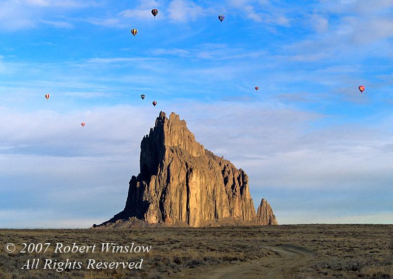 Hot Air Balloons, Shiprock, New Mexico, USA, North America