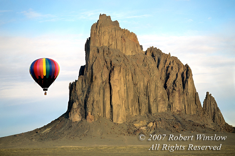 Hot Air Balloon, Shiprock, New Mexico, USA, North America
