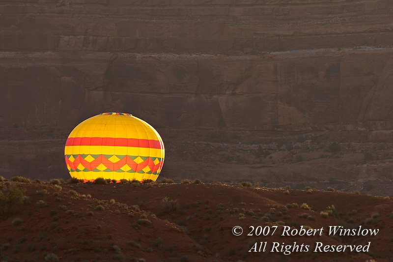 Hot Air Balloon, Rising, Valley of the Gods, Utah, USA, North America
