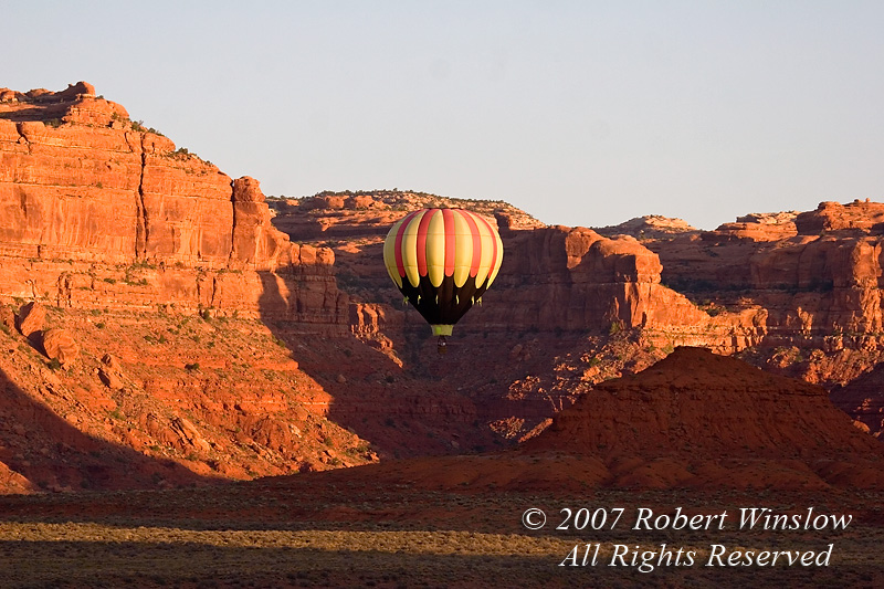 Hot Air Balloon, Valley of the Gods, Utah, USA, North America