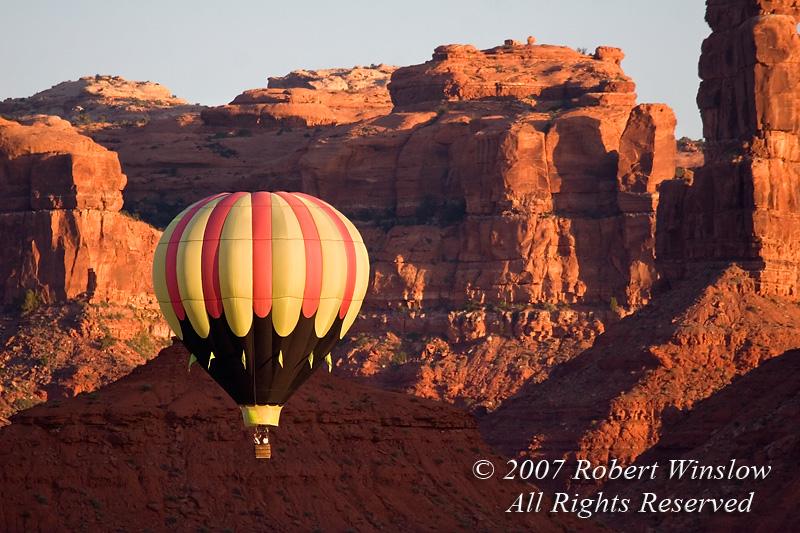 Hot Air Balloons, Valley of the Gods, Utah, USA, North America
