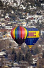 Hot Air Balloons, Winter, Durango, Colorado, USA, North America