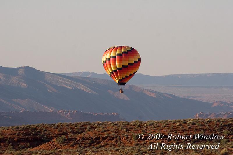 Hot Air Balloon, Valley of the Gods, Utah, USA, North America