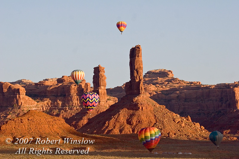 Hot Air Balloons, Valley of the Gods, Utah, USA, North America