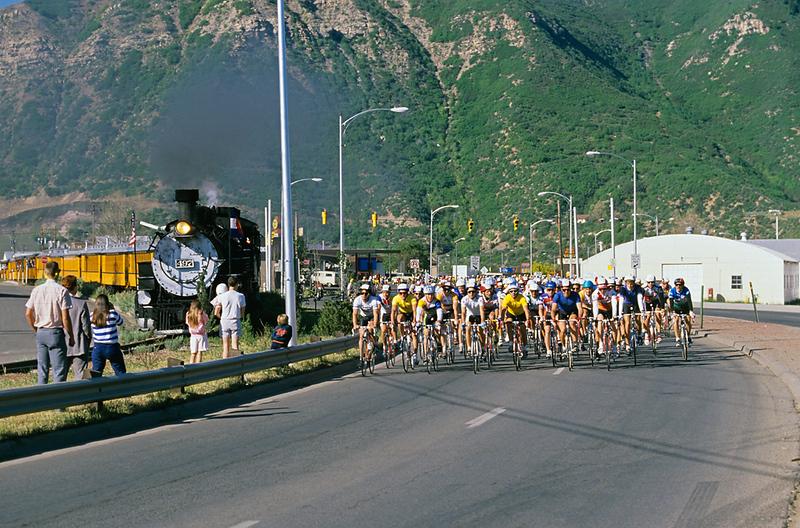 Iron Horse Bicycle Race, Durango and Silverton Narrow Gauge Railroad, Colorado, USA, North America